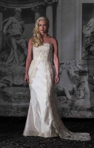 sarah-jassir-la-dolce-vita-2016-strapless-satin-wedding-dress-with-open-front-lace-overskirt-train