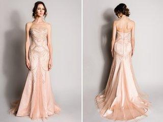 blush-pink-strapless-wedding-dress-by-suzanne-neville