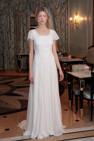 delphine-manivet-spring-summer-2017-ysidore-short-sleeve-wedding-dress-dotted-muslin-flounce-sleeves