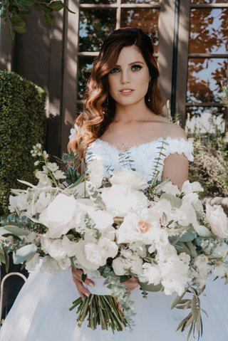 echosmith-singer-sydney-sierota-and-cameron-quiseng-wedding-bouquet-white-flowers-soft-greenery-big