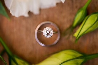 round-diamond-solitaire-engagement-ring-four-prong-aerial-view-of-top-of-ring-diamond