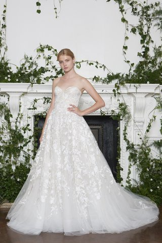 monique-lhuillier-fall-2018-ivory-nude-floral-embroidered-strapless-a-line-gown-watteau-train