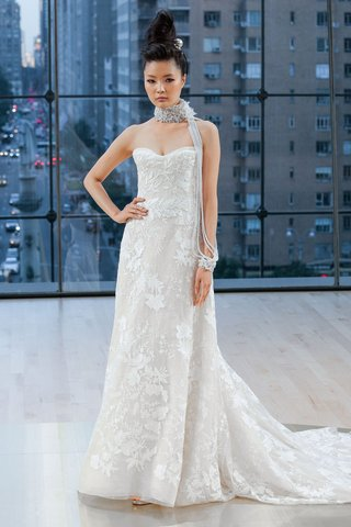 bryant-ines-di-santo-fall-2018-strapless-wedding-dress-a-line-lace-applique-details-all-over