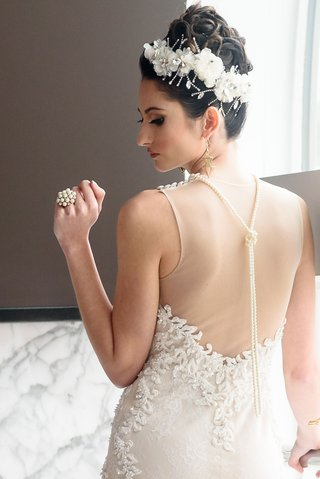 bridal-headpiece-with-white-flowers-and-crystals-pearl-cluster-ring-pearl-back-necklace