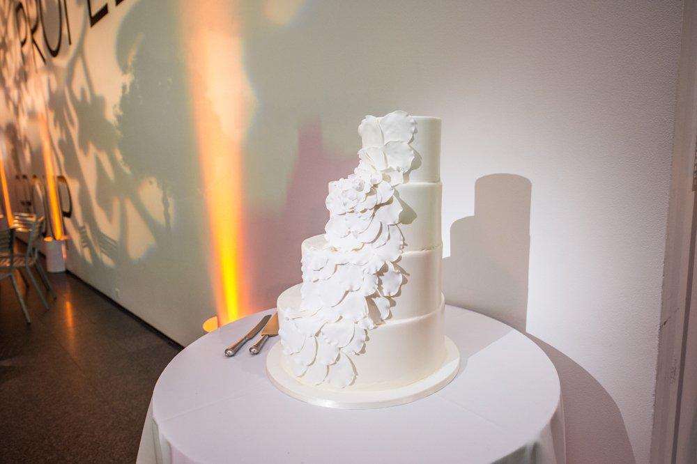 Stair Like White Wedding Cake