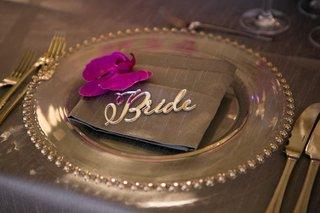 gem-rimmed-charger-laser-cut-bride-gray-grey-wedding-reception-dinner-table