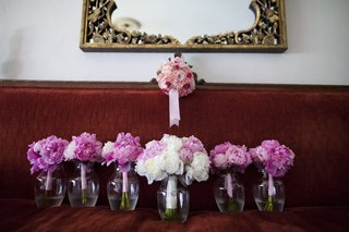 brides-bouquet-of-pastel-pink-amp-white-peonies-with-bridesmaid-bright-magenta-peonies-bouquets