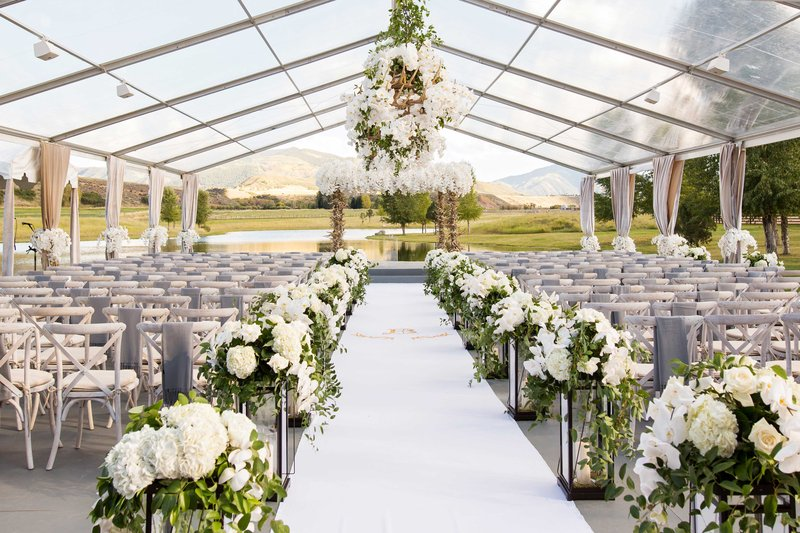 Clear Tent Wedding in Aspen