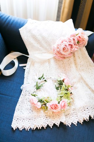 white-lace-flower-girl-dress-with-light-pink-rose-sash-and-matching-flower-crown