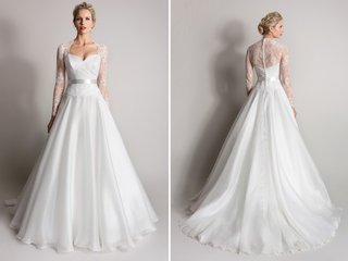 long-sleeve-lace-wedding-dress-with-queen-anne-neckline