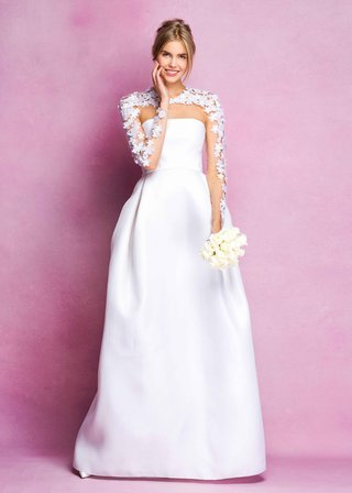 angel-sanchez-fall-2016-ball-gown-with-illusion-sleeves-and-flower-applique