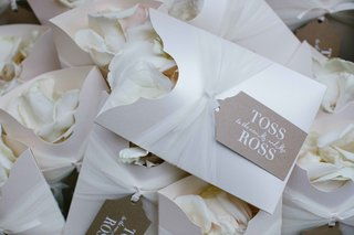white-envelopes-with-rose-petals-inside-rustic-tan-tag-with-personalized-label