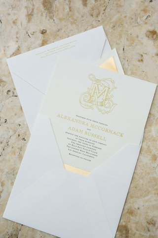 vera-wang-for-paper-source-invitations-with-gold-lettering-and-monogram