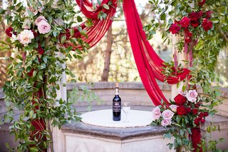 bottle-of-wine-and-wine-glass-for-wine-unity-ceremony
