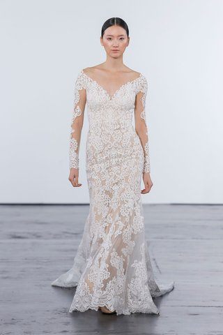 dennis-basso-for-kleinfeld-2018-collection-wedding-dress-long-sleeve-sheer-lace-applique-gown