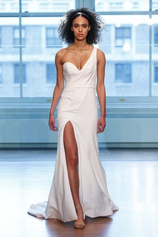 99039-by-justin-alexander-spring-2019-one-shoulder-fit-and-flare-with-asymmetric-pleats