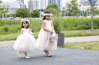 two-girls-in-pink-flower-girl-dresses-with-flower-crowns