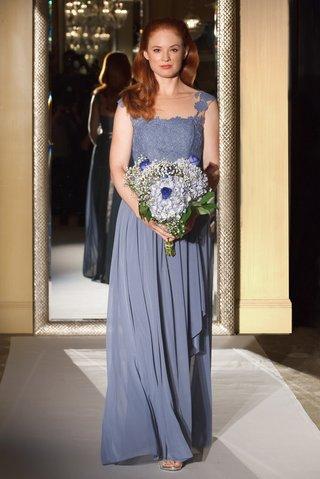 oleg-cassini-davids-bridal-bridesmaid-dress-long-gown-illusion-lace-bodice-mesh-skirt-straps