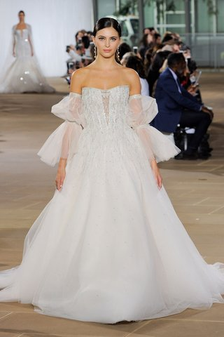 ines-di-santo-fall-2019-bridal-collection-wedding-dress-detachable-poet-sleeves-ball-gown-beading