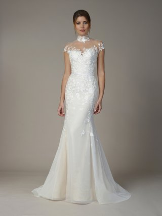 liancarlo-fall-2018-floral-embroidery-soft-tulle-mermaid-gown-illusion-high-neck-and-cap-sleeves