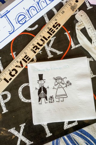 bridal-shower-cocktail-napkin-white-with-stick-figure-drawings-love-rules-ruler-name-tags