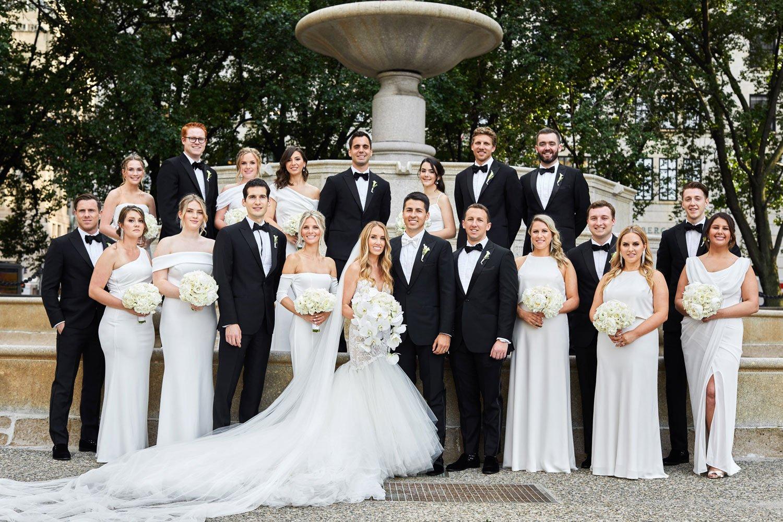 Black White Wedding Party Attire