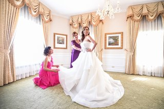 bride-in-alyne-ball-gown-mother-of-the-bride-in-handmade-peruvian-gown