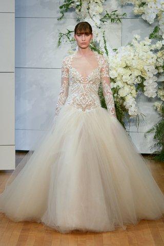 monique-lhuillier-spring-2018-bridal-collection-wedding-dress-marguerite-long-sleeve-drop-waist-ball