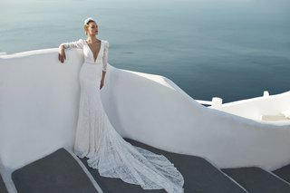 julie-vino-fall-2016-long-sleeve-lace-wedding-dress-with-plunging-v-neck