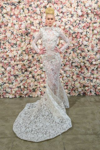 michael-costello-spring-summer-2018-bridal-couture-collection-high-neck-long-sleeve-sheer-dress