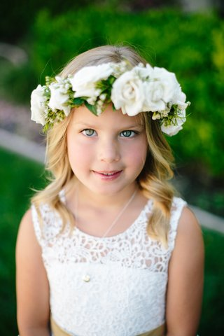 blonde-flower-girl-with-white-lace-dress-flower-crown-with-white-roses
