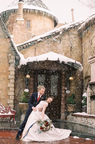 beauty-beast-movie-styled-wedding-shoot-french-restaurant-la-caille-utah-snow-fairy-tale-cottage