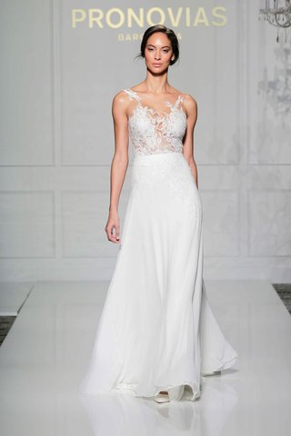 pronovias-2016-wedding-dress-with-illusion-bodice-with-lace-appliques
