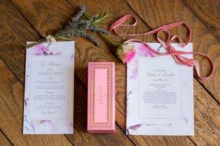 garden-wedding-in-france-paper-goods-french-words-la-duree-macarons-velvet-ribbon-flower-design