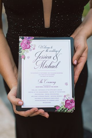 classic-white-invitation-with-black-border-and-floral-accent