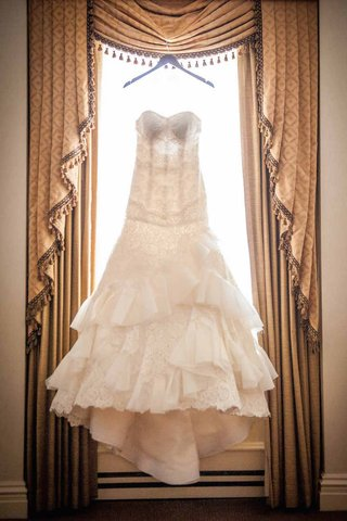 isabelle-armstrong-strapless-gown-with-lace-tiered-ruffled-skirt