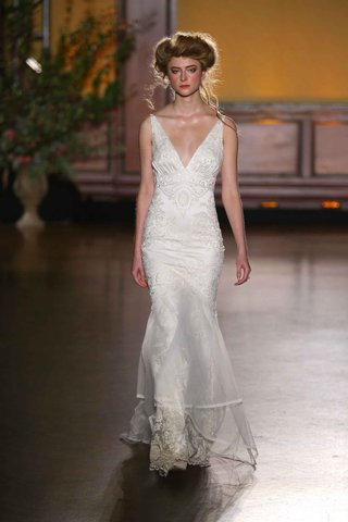 marquise-v-neck-wedding-dress-from-the-gilded-age-collection-by-claire-pettibone