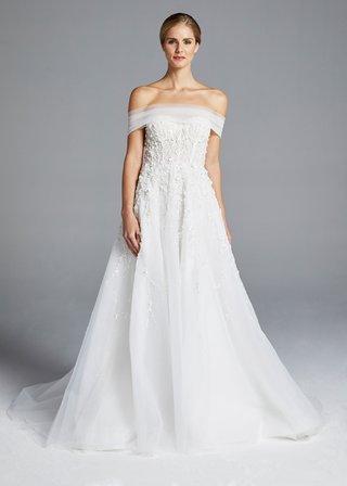 anne-barge-spring-2019-bridal-collection-wedding-dress-karlie-off-the-shoulder-a-line-gown-flowers