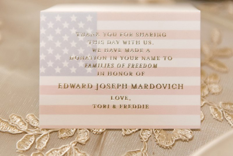 Donation Card Wedding Favor
