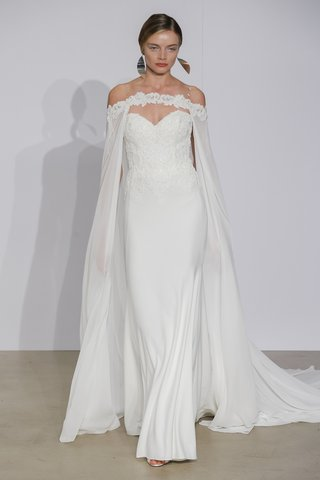 justin-alexander-fall-2018-crepe-fit-and-flare-gown-with-chiffon-cape
