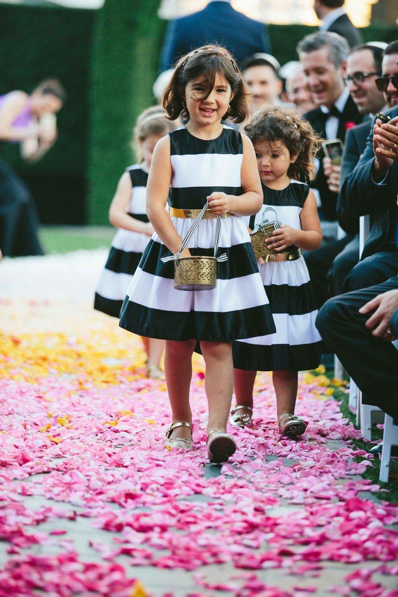 Striped Flower Girls Dresses