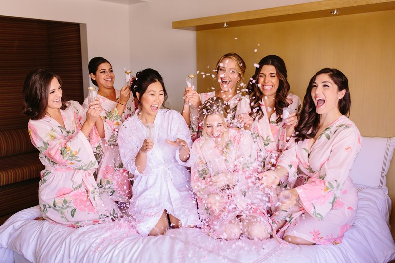 Pink Confetti Poppers & Robes