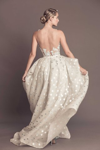 illusion-back-with-embroidery-wedding-dress-polka-dot-skirt-francesca-miranda-fall-2016-collection
