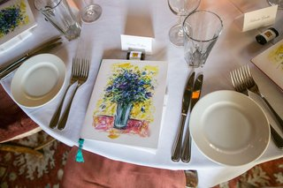 wedding-reception-at-san-ysidro-ranch-with-stonehouse-restaurant-menu-with-floral-artwork