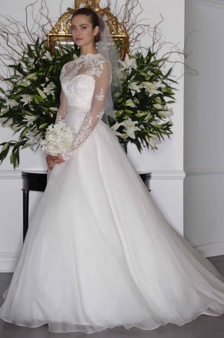 legends-romona-keveza-fall-2016-ball-gown-wedding-dress-with-lace-over-blouse