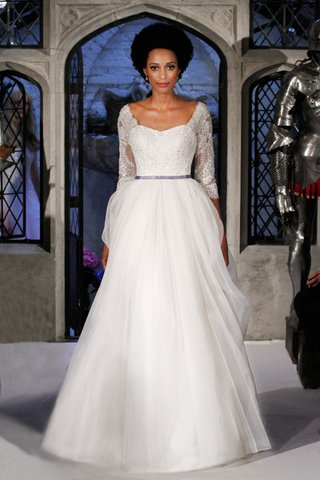 oleg-cassini-spring-2018-wedding-dress-organza-ball-gown-three-quarter-lace-sleeves-sweetheart-neck