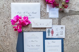 invitation-with-blue-exterior-pink-hummingbird-details-save-the-date