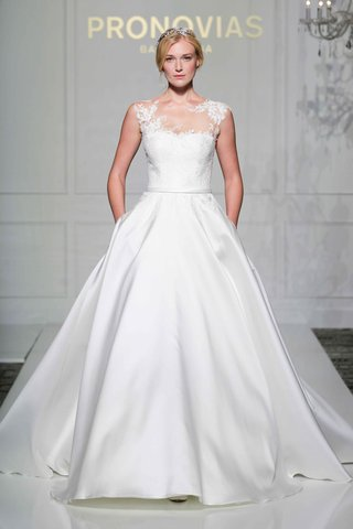 pronovias-2016-princess-dress-with-satin-skirt-illusion-bodice-and-sheer-details