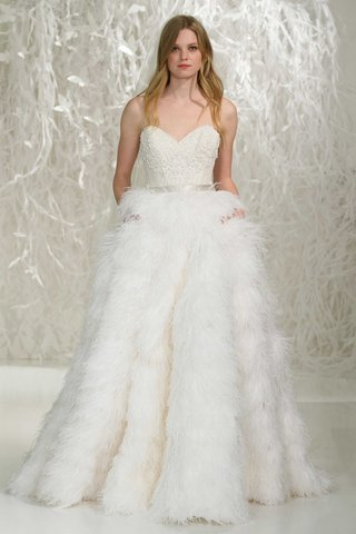 watters-2016-strapless-wedding-dress-with-feather-skirt