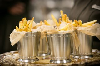 french-fries-served-in-mint-julep-cups-at-wedding-vow-renewal-ideas-late-night-snack